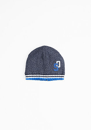 Soft knit hat with embroidery from s.Oliver