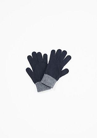Handschuhe mit Rippbündchen