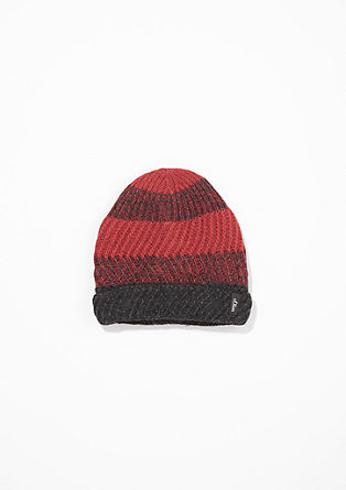 Striped hat with a fleece lining from s.Oliver