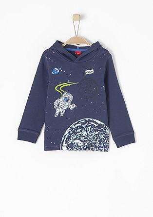 Hoodie mit Astronautenprint