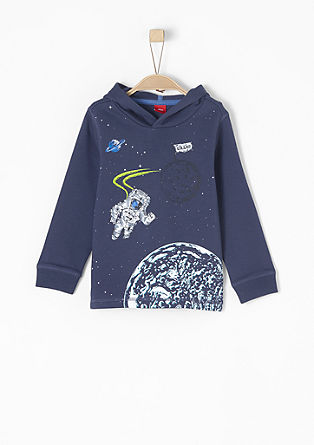 Mikina s potiskem astronautů