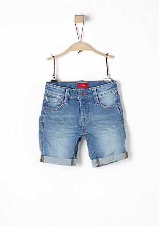 Pelle: Shorts im Used-Look