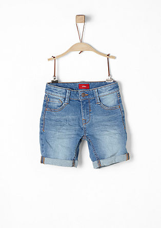Pelle: Shorts im Used-Look