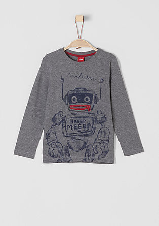 Long sleeve top with a robot motif from s.Oliver