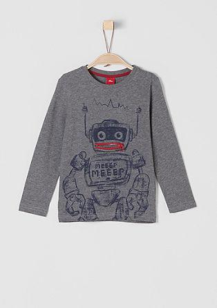 Tričko s dlouhým rukávem a motivem robota
