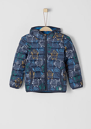 Quilted jacket with a motif print from s.Oliver