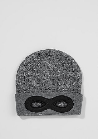Beanie with mask detail from s.Oliver