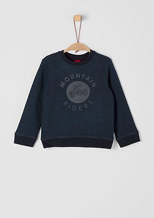 Sweatshirt mit Biker-Print