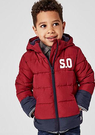 Prešita zimska jakna s kontrasti