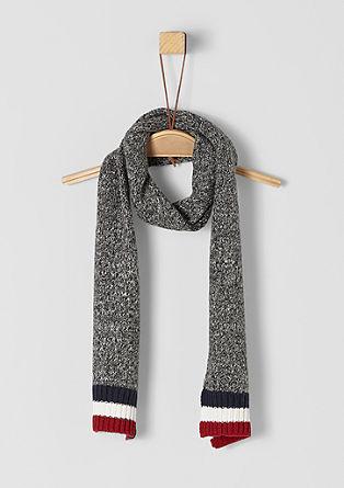 Gemêleerde gebreide sjaal
