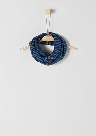 Šal loop s pletenim vzorcem