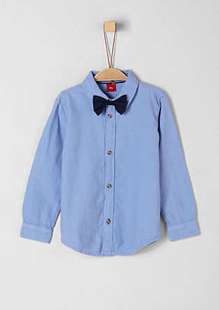 Cotton shirt with a bow tie from s.Oliver