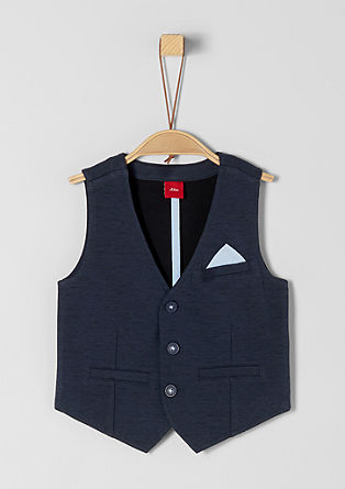 Waistcoat with a pocket square from s.Oliver