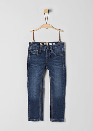 Brad: Super stretchy blue jeans from s.Oliver
