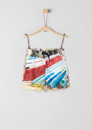 Swim shorts with printed pattern from s.Oliver