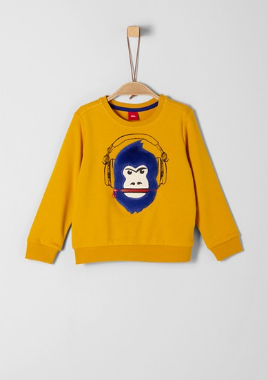 Sweatshirt with a 3D motif and zip from s.Oliver
