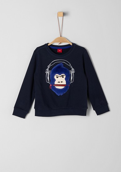 Sweatshirt mit 3D-Motiv und Zipper