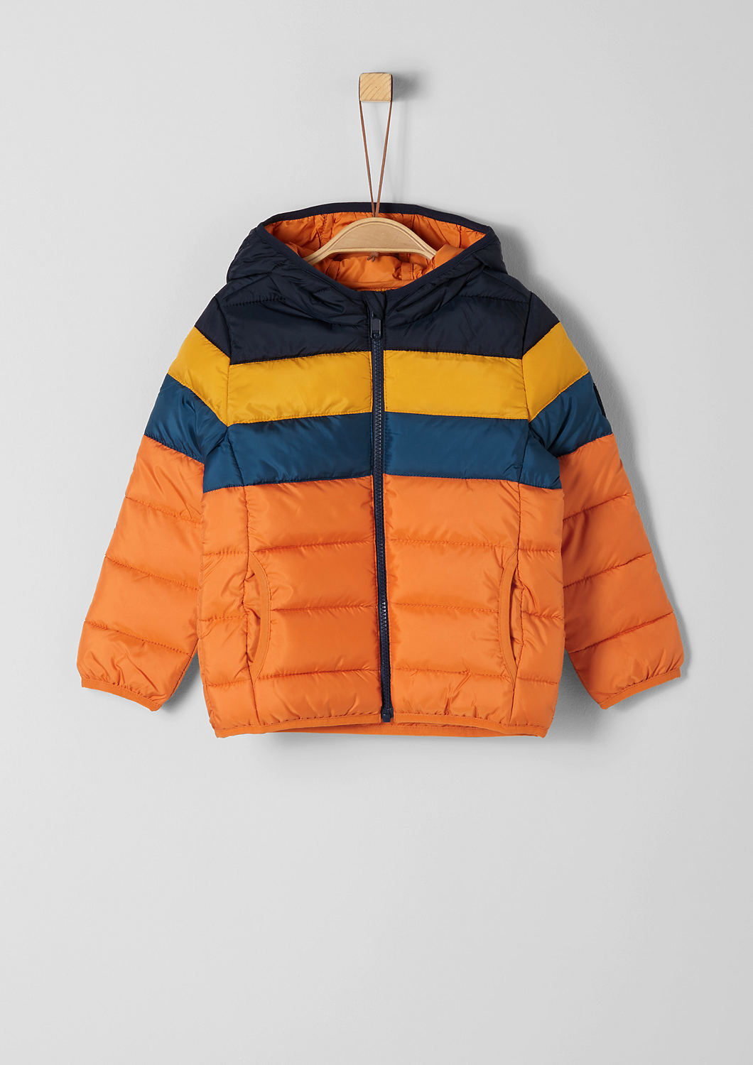 Buy Padded, striped quilted jacket with a hood | s.Oliver shop