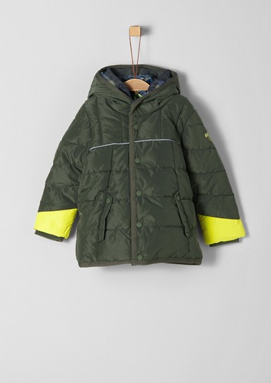 Puffer jacket with a double-layer hood from s.Oliver