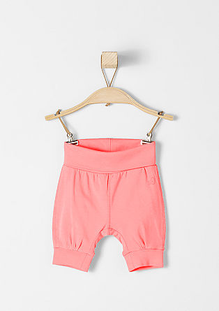 Jersey-Shorts mit Umschlagbund