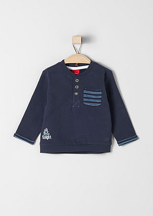 Sweatshirt with woven details from s.Oliver