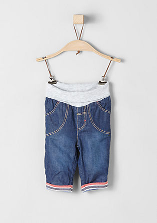 Gefütterte Jeans mit Rippbund