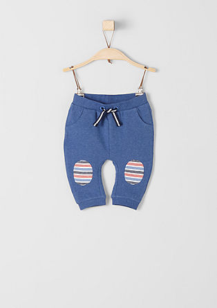 Sweatpant met knie-patches