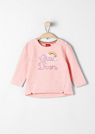 Sweatshirt with sequins and rainbow from s.Oliver