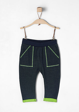Tracksuit bottoms with neon accents from s.Oliver