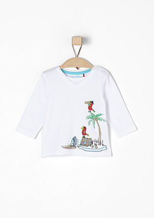 Long sleeve top with a pirate print from s.Oliver