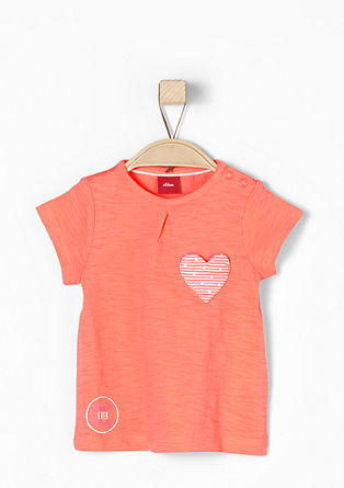 T-shirt with a heart appliqué from s.Oliver