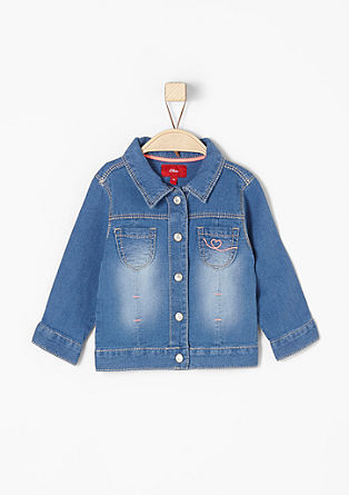 Denim jacket with press studs from s.Oliver