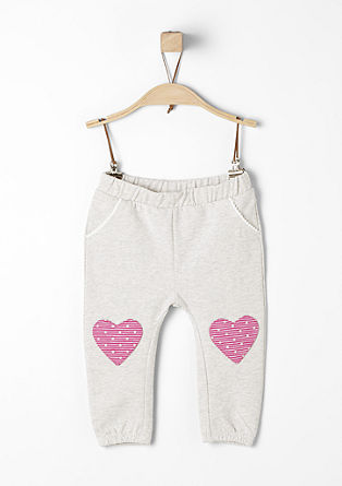 Tracksuit bottoms with heart patches from s.Oliver