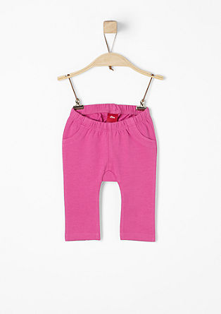 Tracksuit bottoms with polka dot detailing from s.Oliver