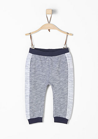 Tracksuit bottoms with a textured pattern from s.Oliver