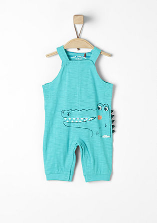 Jersey romper suit with a crocodile motif from s.Oliver