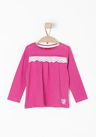 Long sleeve top with a ruffle trim from s.Oliver