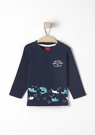 Long sleeve top with a shark print from s.Oliver
