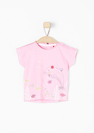 Shirt met print en applicatie