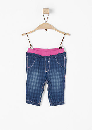 Summer jeans with an elasticated waistband from s.Oliver
