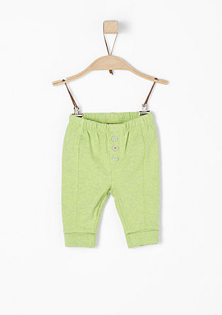 Jogger style pants met sierknopen