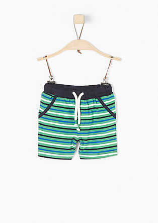 Striped jersey shorts from s.Oliver