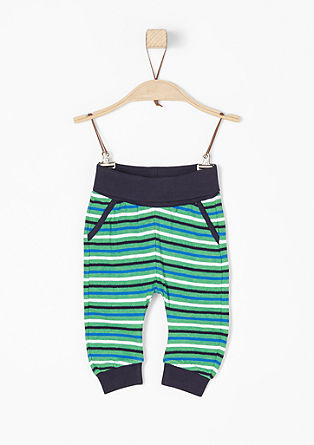 Jersey trousers with stripes from s.Oliver