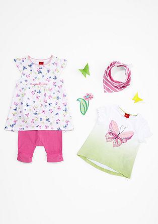 Jerseykleid mit Schmetterlings-Print