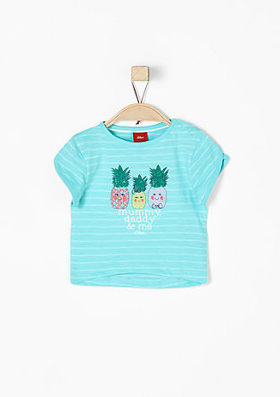 Jacquard top with a pineapple print from s.Oliver