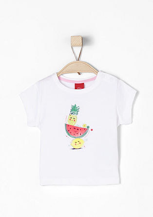 Jersey T-shirt with a fruit print from s.Oliver