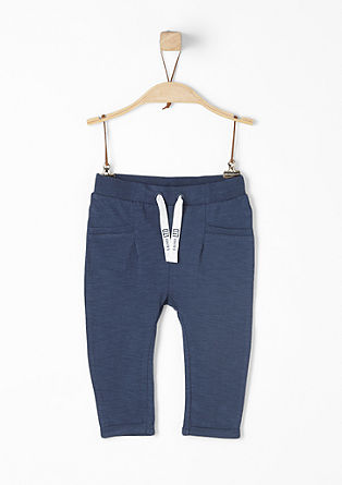 Comfortable slub yarn trousers from s.Oliver