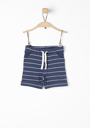 Jacquard shorts with stripes from s.Oliver