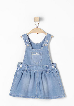 Lightweight denim bib skirt from s.Oliver