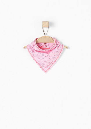 Neckerchief with a zigzag jacquard pattern from s.Oliver
